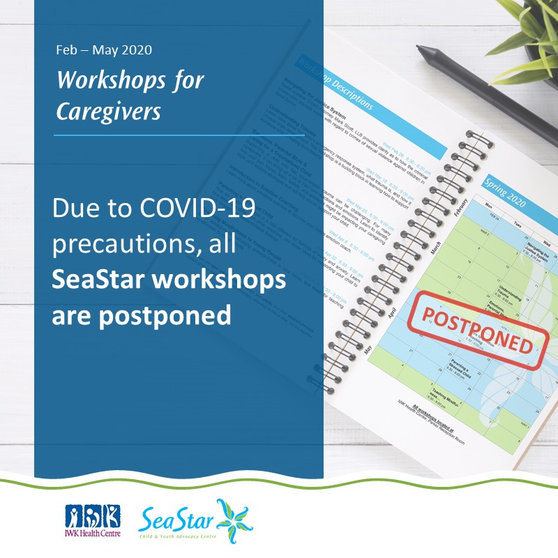 Due to COVID-19 precautions, all SeaStar workshops are postponed